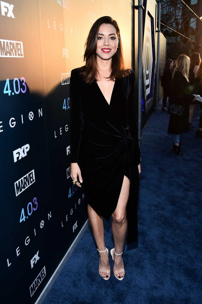 Aubrey Plaza at the Legion TV Show Season 2 Premiere in Los Angeles 04/02/2018-2