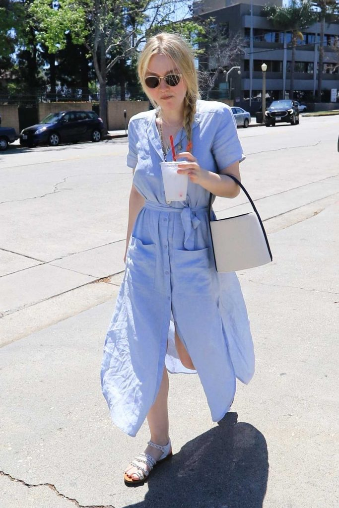Dakota Fanning Leaves the Farmers Market in Studio City 04/22/2018-4