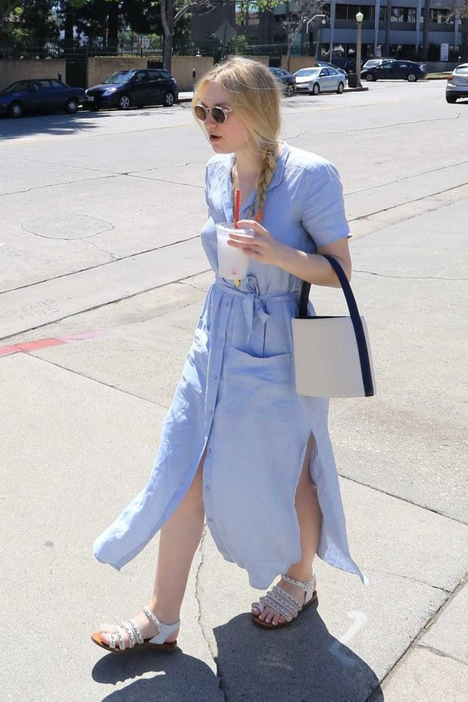 Dakota Fanning Leaves the Farmers Market in Studio City 04/22/2018-5