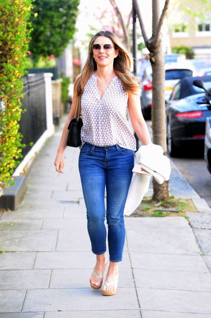 Elizabeth Hurley Out Shopping in London 04/18/2018-2