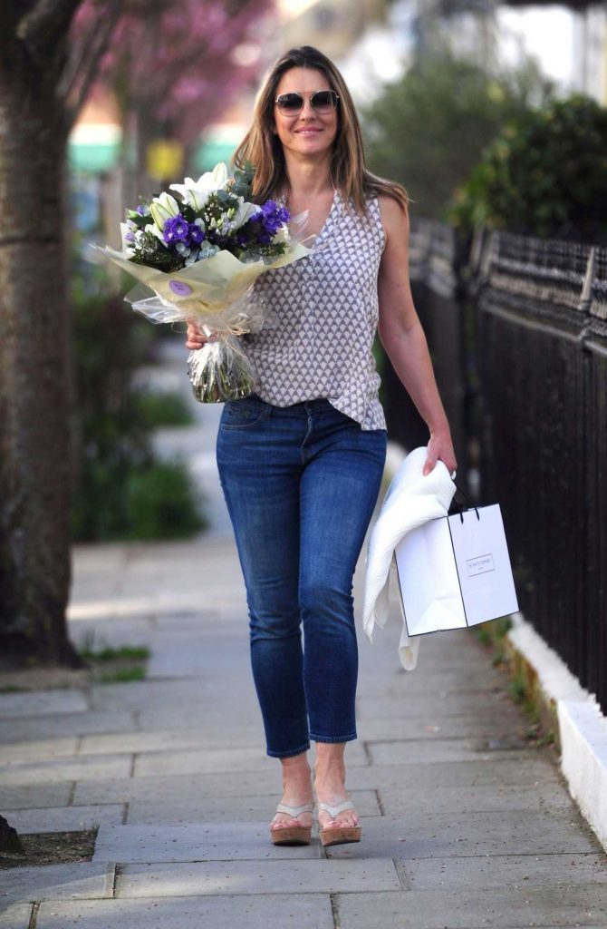 Elizabeth Hurley Out Shopping in London 04/18/2018-3