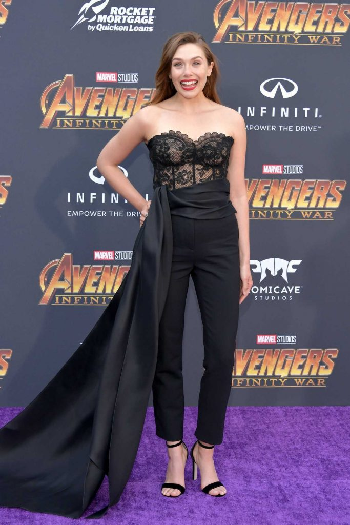 Elizabeth Olsen at Avengers: Infinity War Premiere in Los Angeles 04/23/2018-1