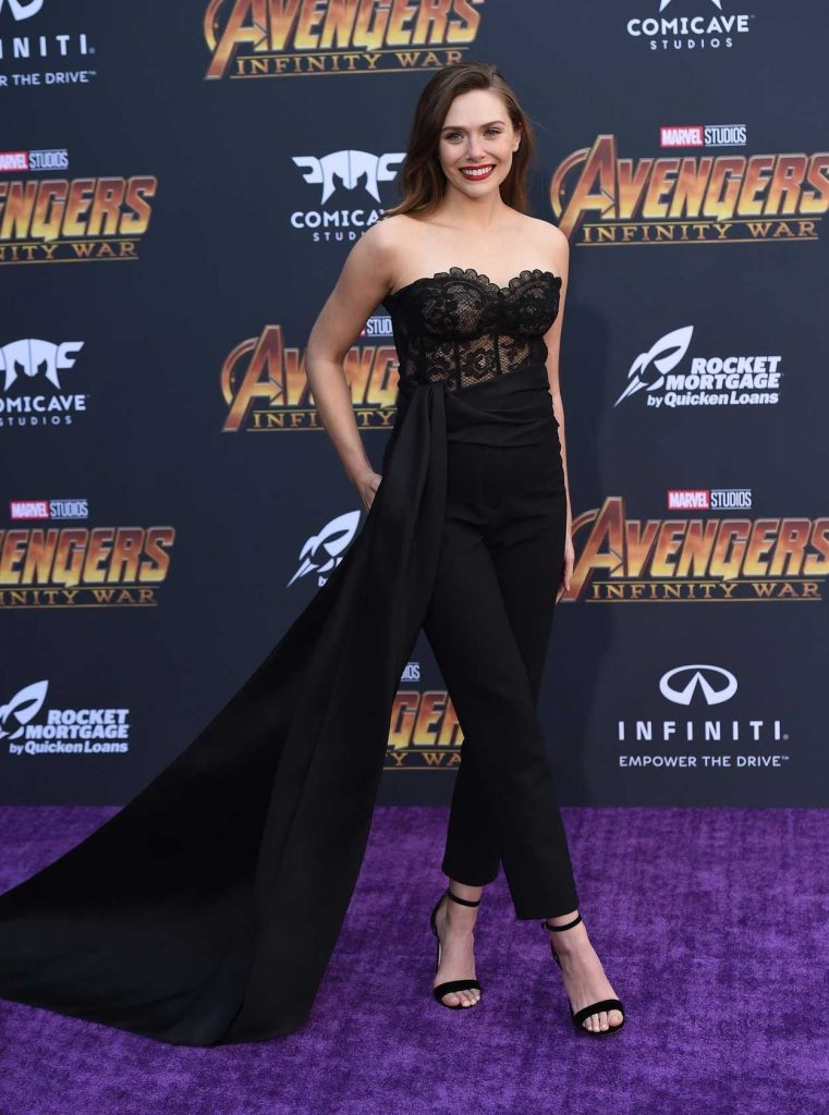 Elizabeth Olsen at Avengers: Infinity War Premiere in Los Angeles 04/23/2018-2