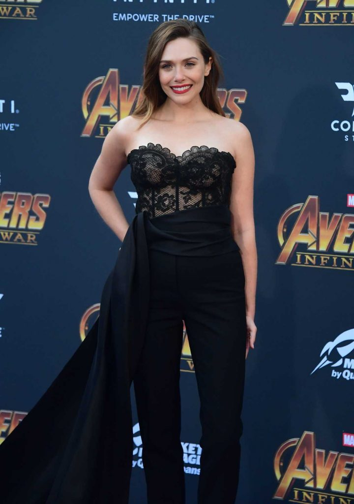 Elizabeth Olsen at Avengers: Infinity War Premiere in Los Angeles 04/23/2018-3