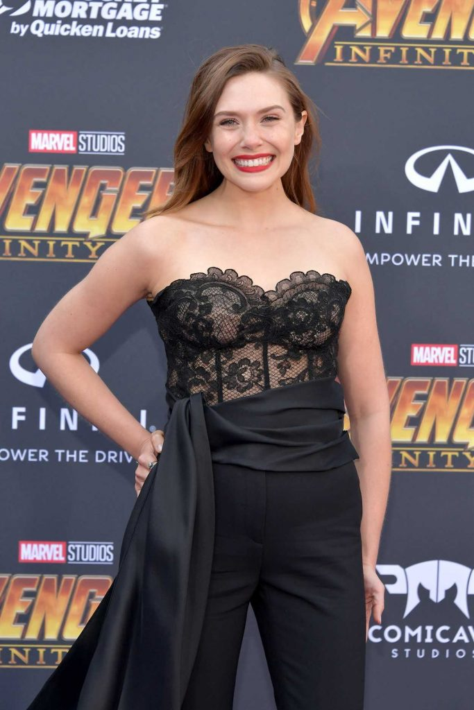Elizabeth Olsen at Avengers: Infinity War Premiere in Los Angeles 04/23/2018-4