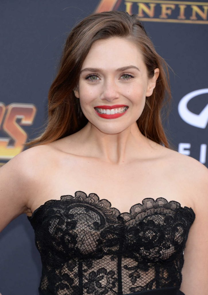Elizabeth Olsen at Avengers: Infinity War Premiere in Los Angeles 04/23/2018-5