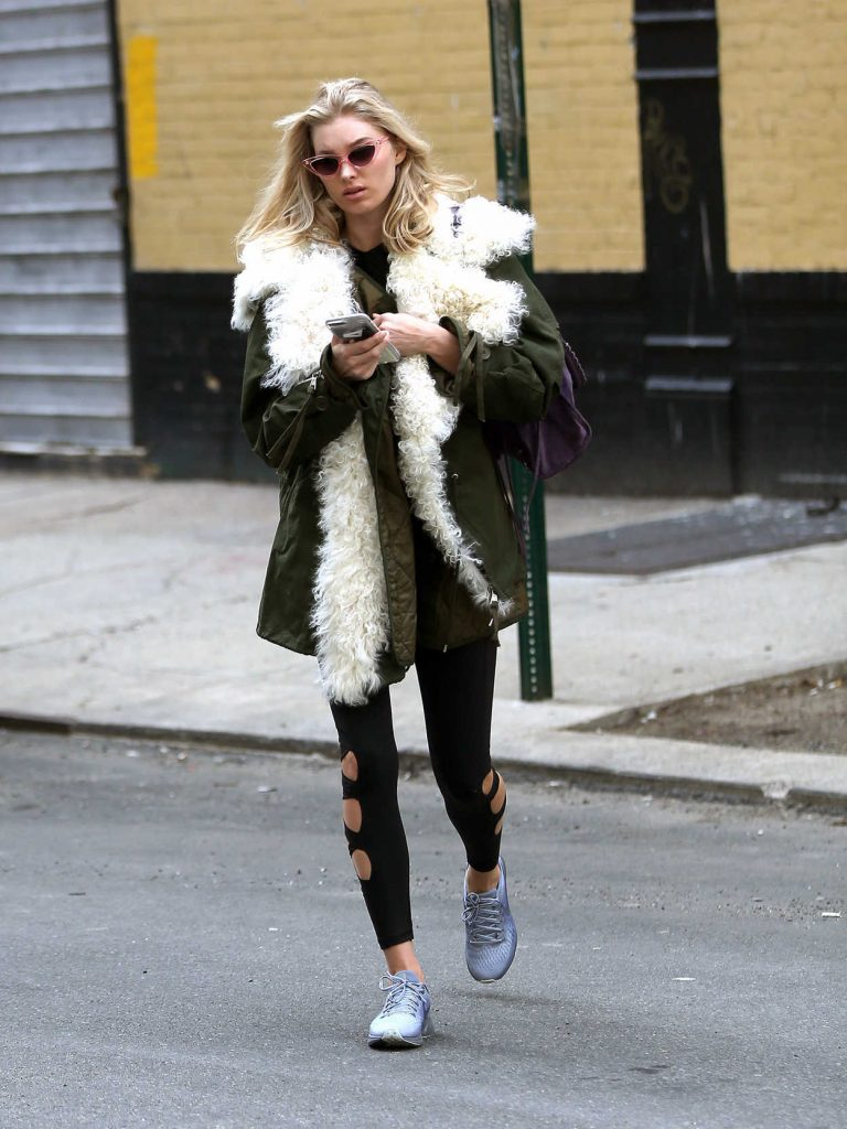 Elsa Hosk Leaves the Gym in New York City 04/09/2018-1