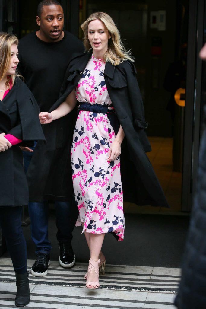 Emily Blunt Leaves BBC Studios in London 04/06/2018-3