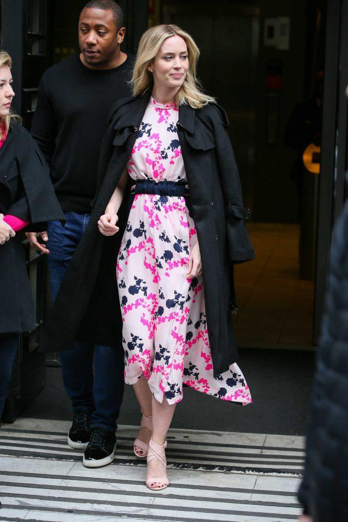 Emily Blunt Leaves BBC Studios in London 04/06/2018-4
