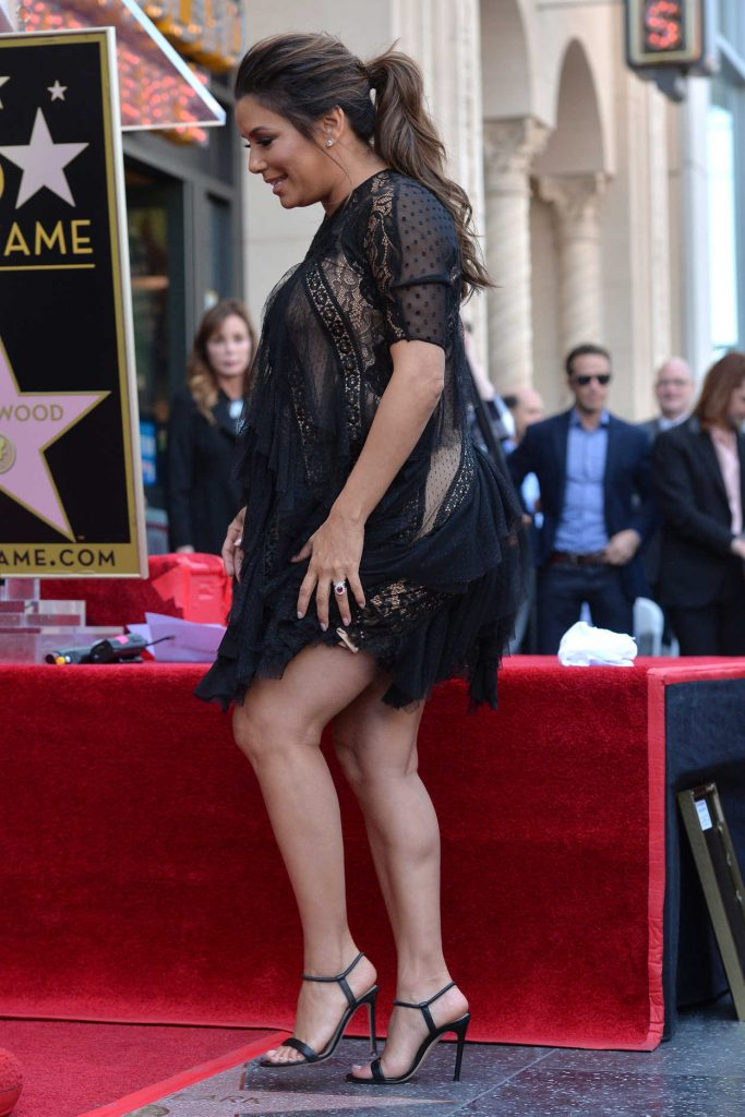 Eva Longoria Honored with a Star During a Walk of Fame Ceremony in Beverly Hills 04/16/2018-3