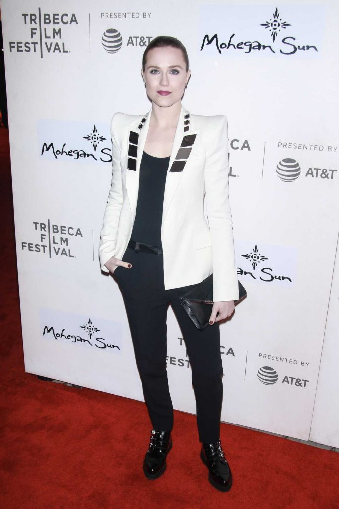 Evan Rachel Wood at the Westworld Premiere During the Tribeca Film Festival in New York City 04/19/2018-1