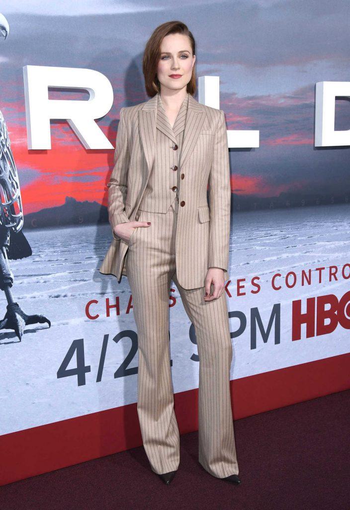 Evan Rachel Wood at the Westworld Season 2 Premiere in Los Angeles 04/16/2018-1