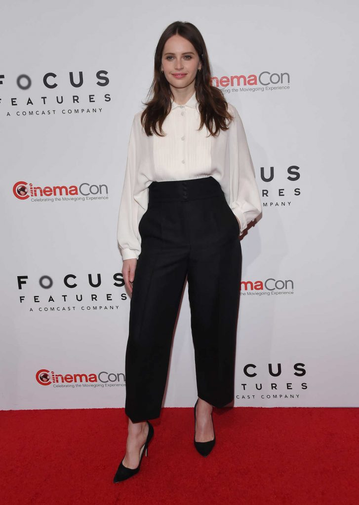 Felicity Jones at the Focus Features Presentation During 2018 CinemaCon in Las Vegas 04/25/2018-1