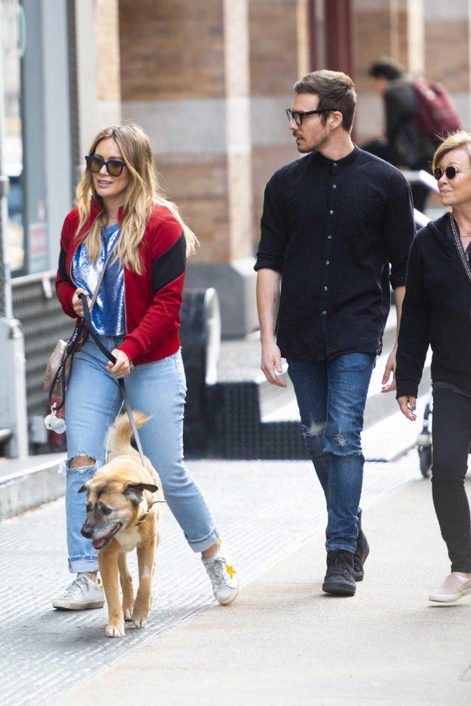 Hilary Duff Walks Her Dog Out SoHo, NYC 04/21/2018-2