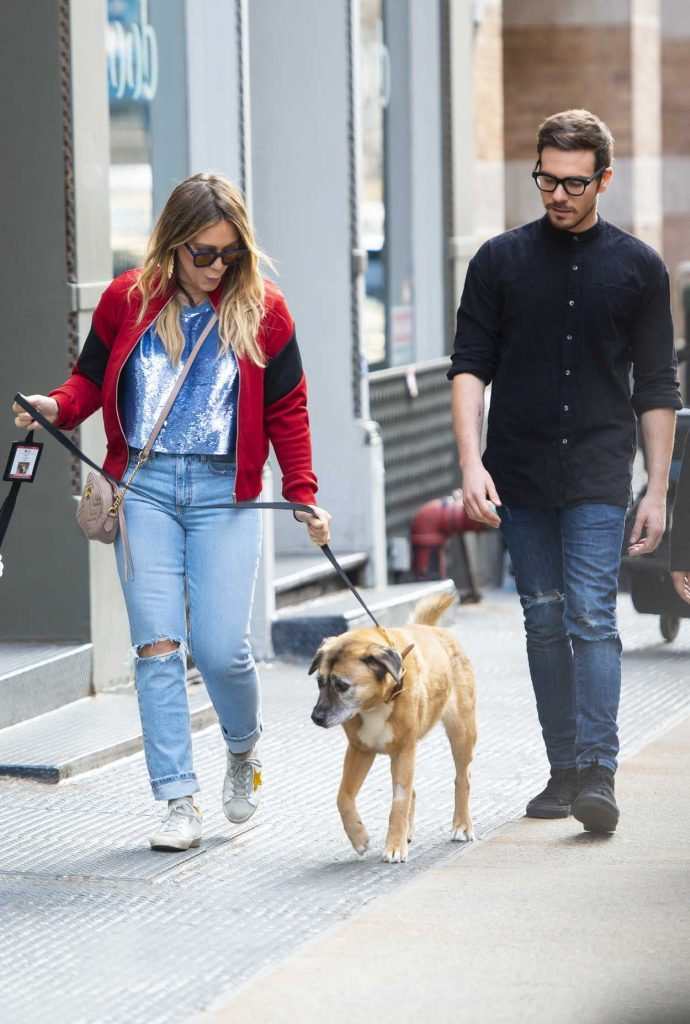 Hilary Duff Walks Her Dog Out SoHo, NYC 04/21/2018-3