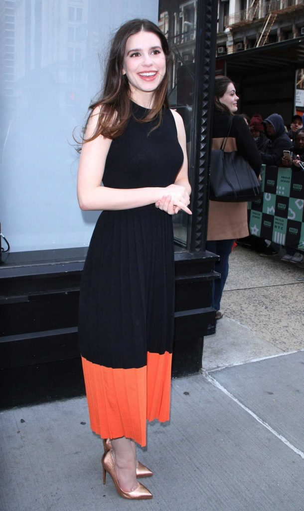 Philippa Coulthard Arrives at AOL Build Studios in New York City 05/04/2018-1