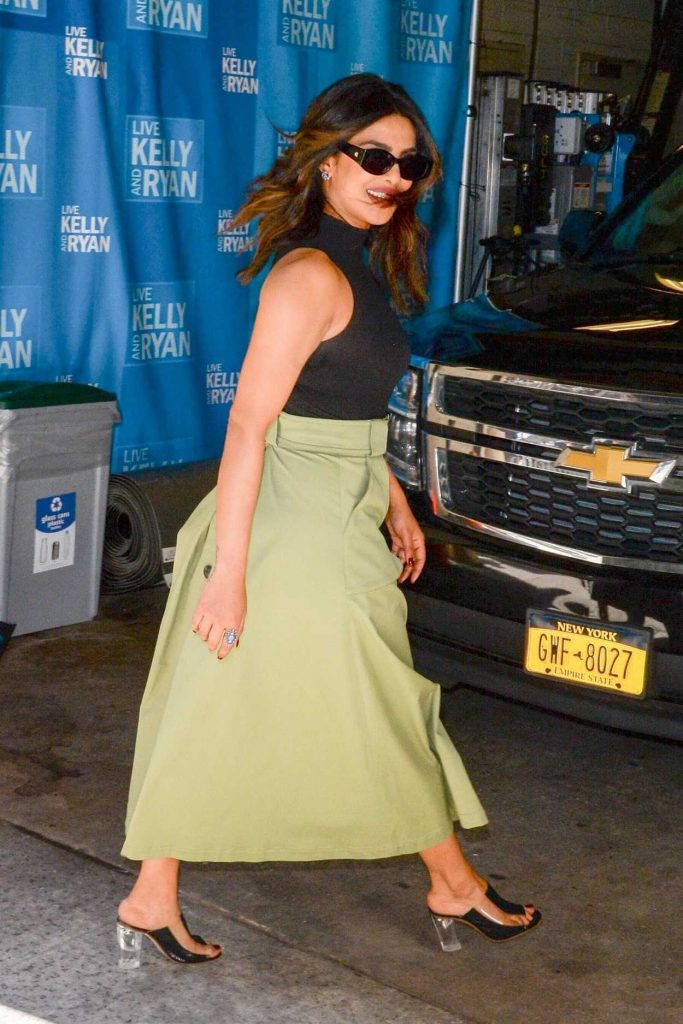 Priyanka Chopra Leaves the Live with Kelly and Ryan Show in New York 04/26/2018-1