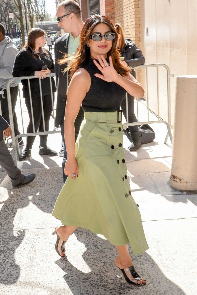 Priyanka Chopra Leaves the Live with Kelly and Ryan Show in New York 04/26/2018-4