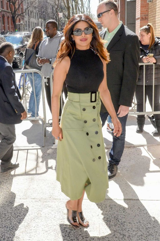 Priyanka Chopra Leaves the Live with Kelly and Ryan Show in New York 04/26/2018-5