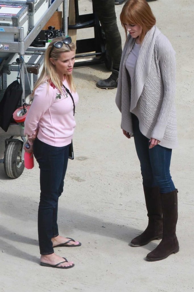 Reese Witherspoon on the Set of Big Little Lies in Monterey 04/12/2018-2