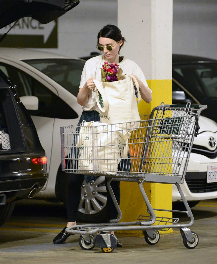 Rooney Mara Goes Grocery Shopping at a Health Food Store in Los Angeles 03/29/2018-4