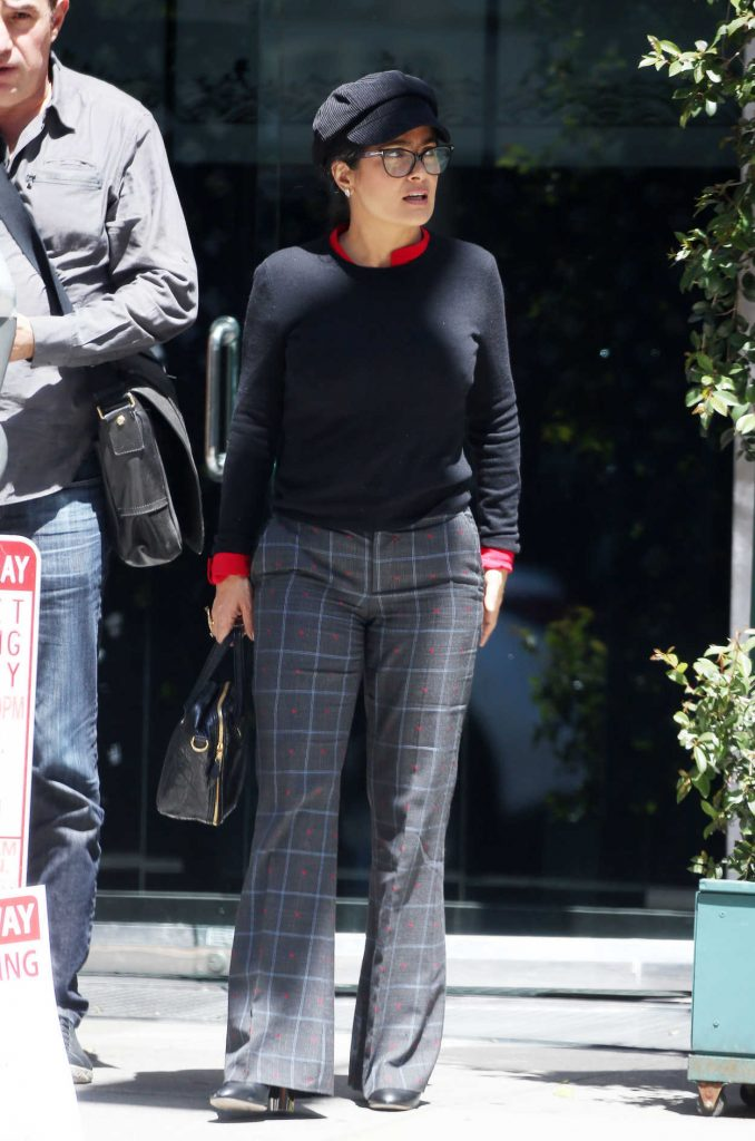 Salma Hayek Arrives at Mr Chow in Los Angeles 04/12/2018-2
