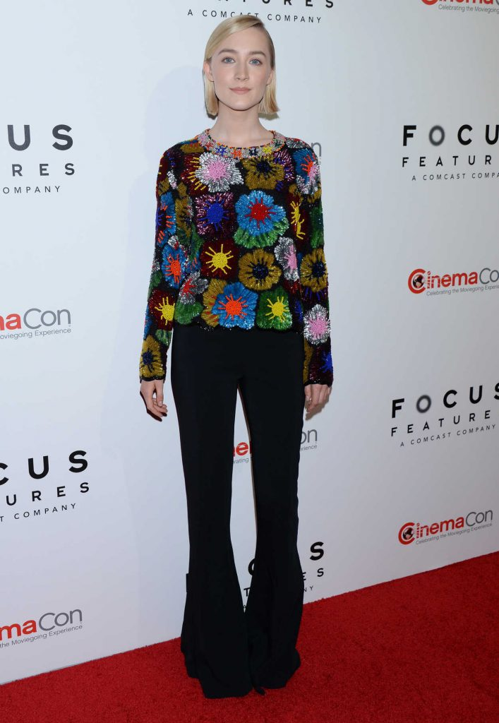 Saoirse Ronan at the Focus Features Presentation During 2018 CinemaCon in Las Vegas 04/25/2018-1