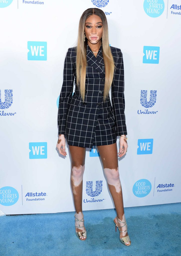 Winnie Harlow at WE Day California in Los Angeles 04/19/2018-1