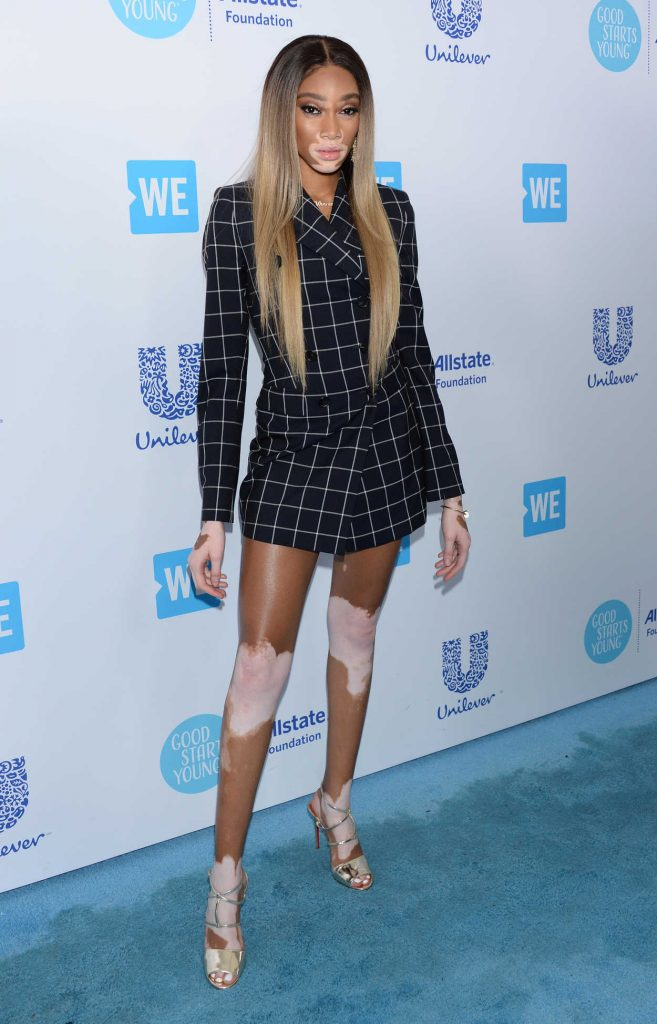 Winnie Harlow at WE Day California in Los Angeles 04/19/2018-3