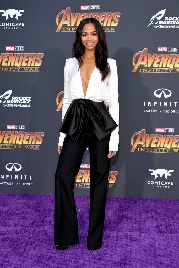 Zoe Saldana at Avengers: Infinity War Premiere in Los Angeles 04/23/2018-1