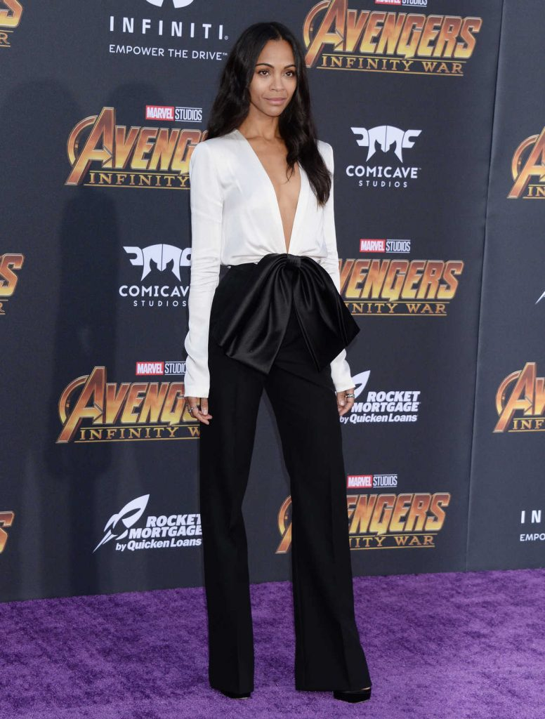 Zoe Saldana at Avengers: Infinity War Premiere in Los Angeles 04/23/2018-3