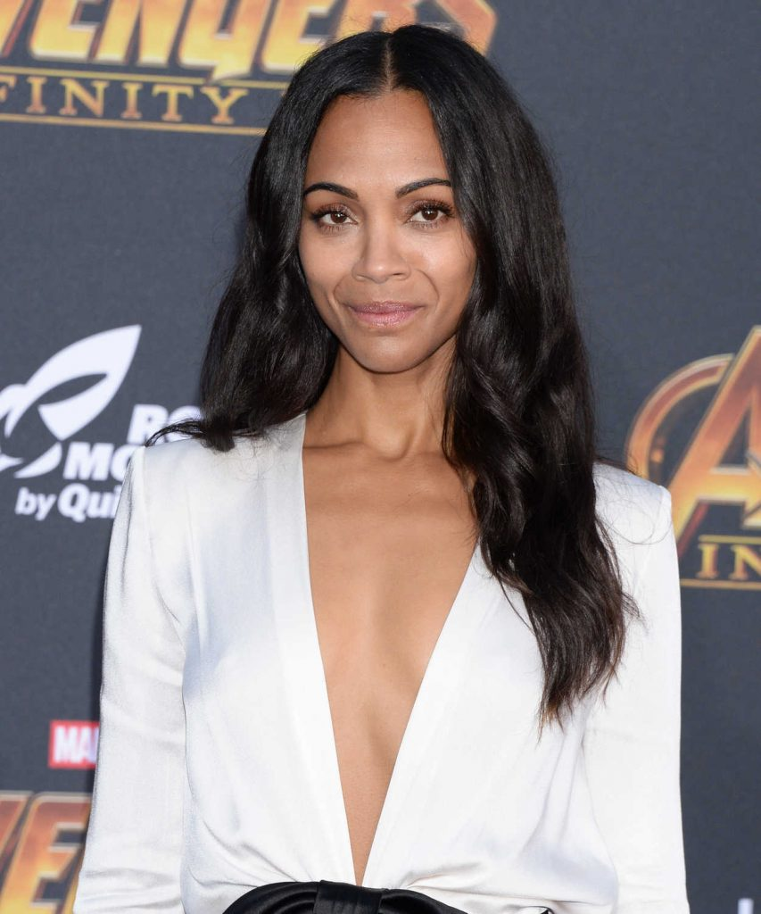 Zoe Saldana at Avengers: Infinity War Premiere in Los Angeles 04/23/2018-5