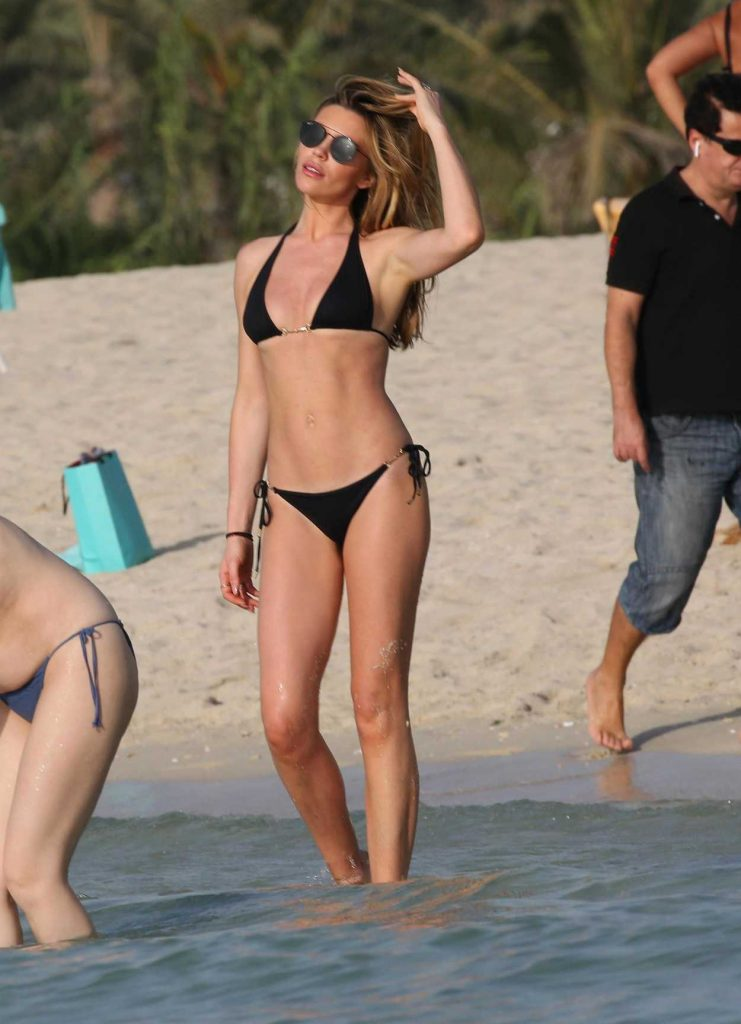 Abbey Clancy in Bikini on the Beach in Dubai 05/25/2018-1