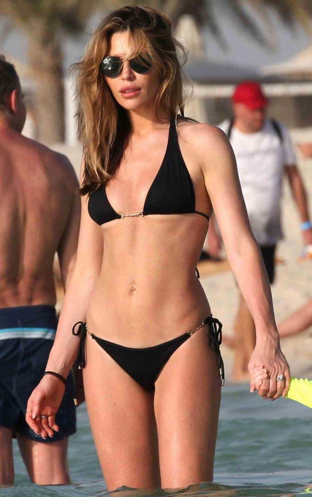 Abbey Clancy in Bikini on the Beach in Dubai 05/25/2018-3