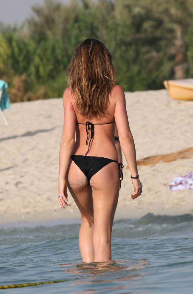 Abbey Clancy in Bikini on the Beach in Dubai 05/25/2018-4