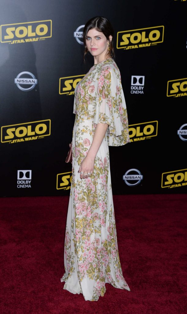 Alexandra Daddario at the Solo: A Star Wars Story Premiere in Los Angeles 05/10/2018-4