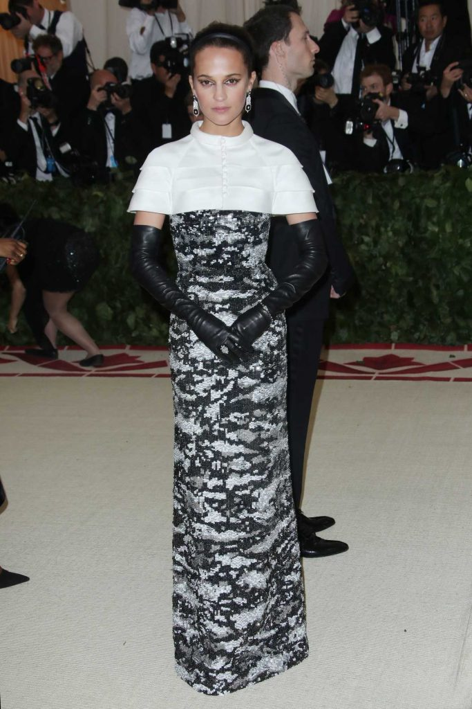 Alicia Vikander at the Heavenly Bodies: Fashion and The Catholic Imagination Costume Institute Gala in New York City 05/07/2018-1