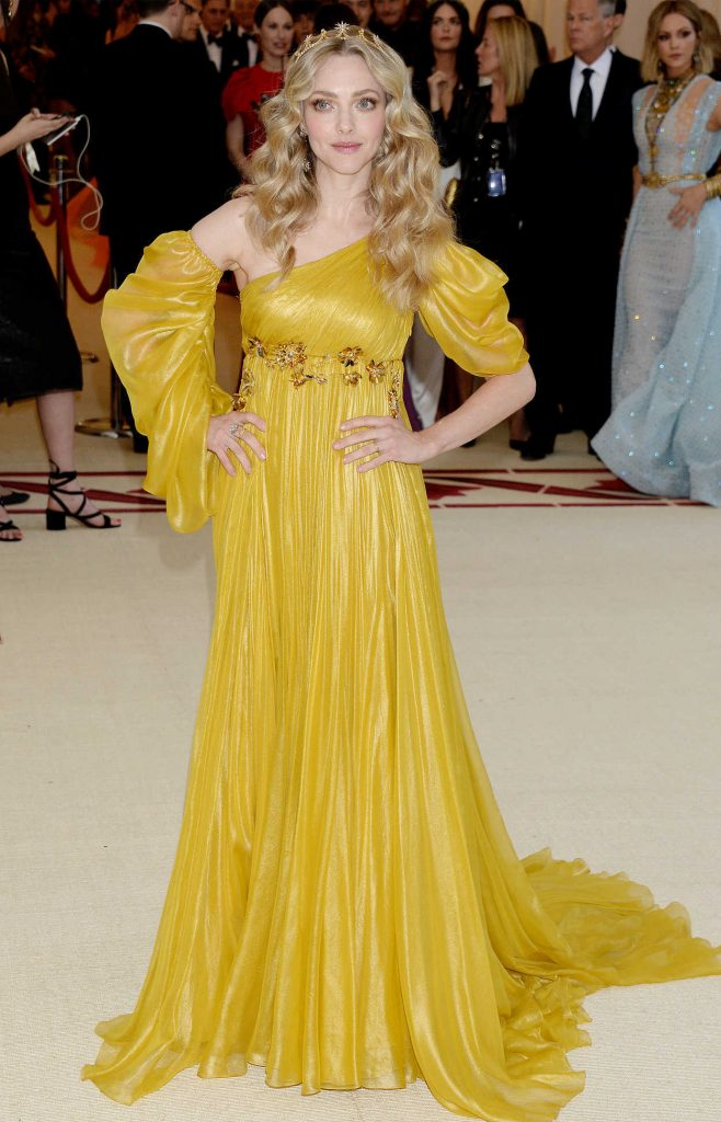 Amanda Seyfried at the Heavenly Bodies: Fashion and The Catholic Imagination Costume Institute Gala in New York City 05/07/2018-1