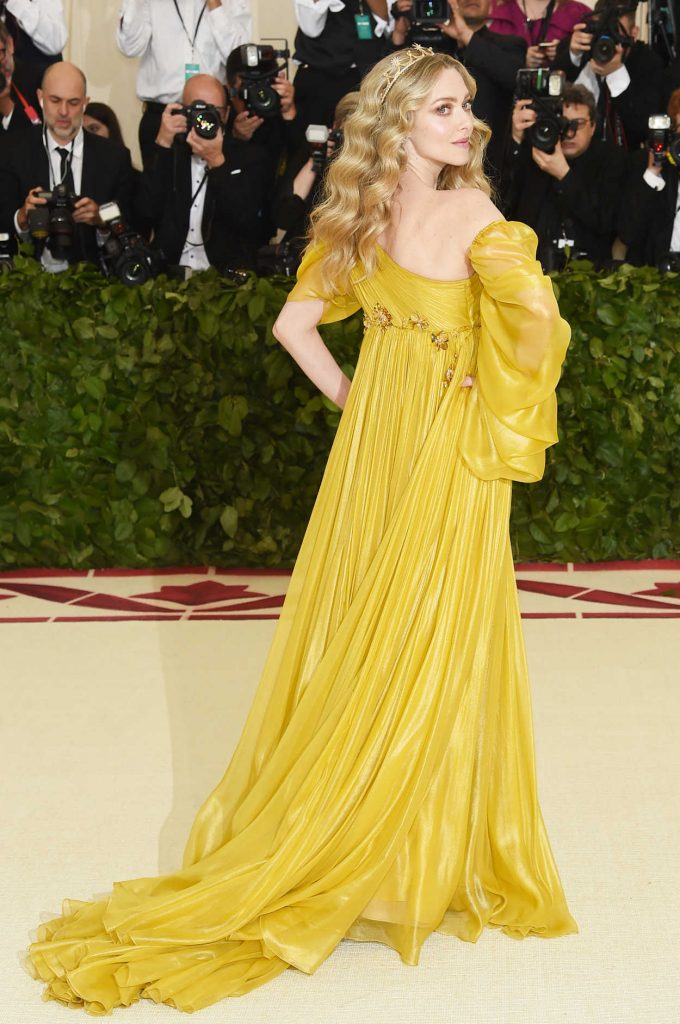 Amanda Seyfried at the Heavenly Bodies: Fashion and The Catholic Imagination Costume Institute Gala in New York City 05/07/2018-3
