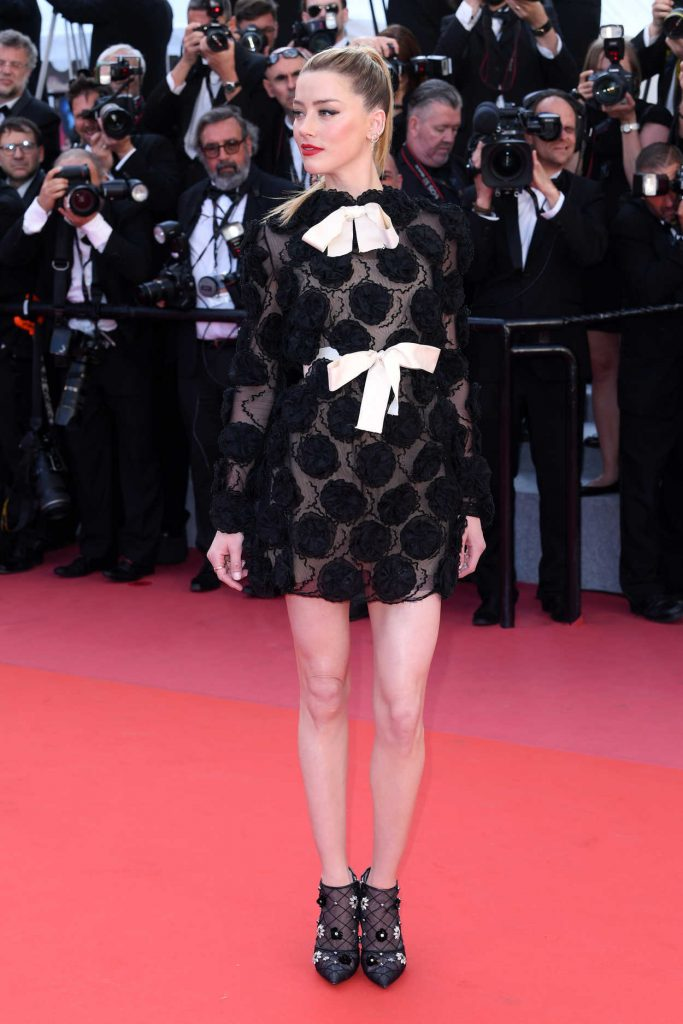 Amber Heard at the Girls of the Sun Premiere During the 71st Cannes Film Festival in Cannes 05/12/2018-2