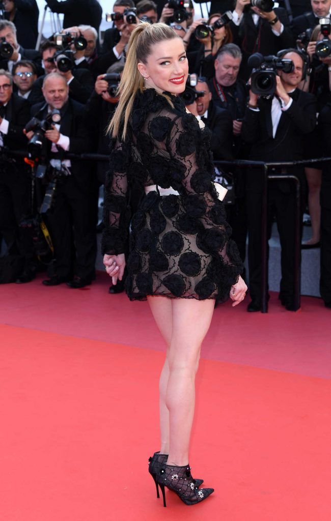 Amber Heard at the Girls of the Sun Premiere During the 71st Cannes Film Festival in Cannes 05/12/2018-3