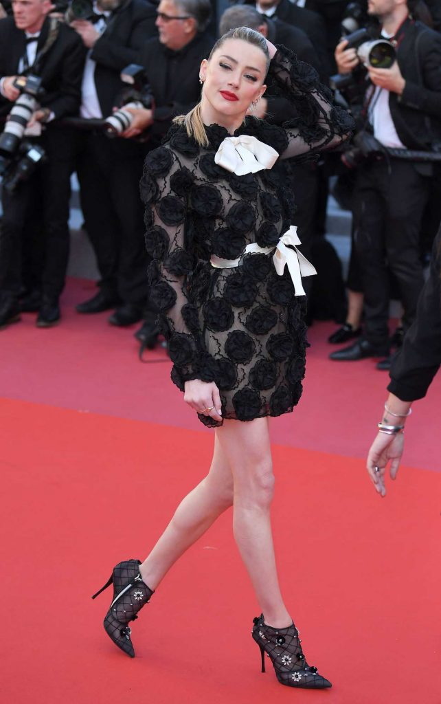 Amber Heard at the Girls of the Sun Premiere During the 71st Cannes Film Festival in Cannes 05/12/2018-4