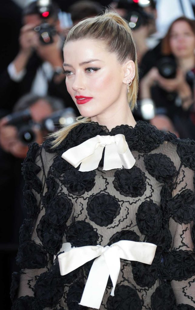 Amber Heard at the Girls of the Sun Premiere During the 71st Cannes Film Festival in Cannes 05/12/2018-5