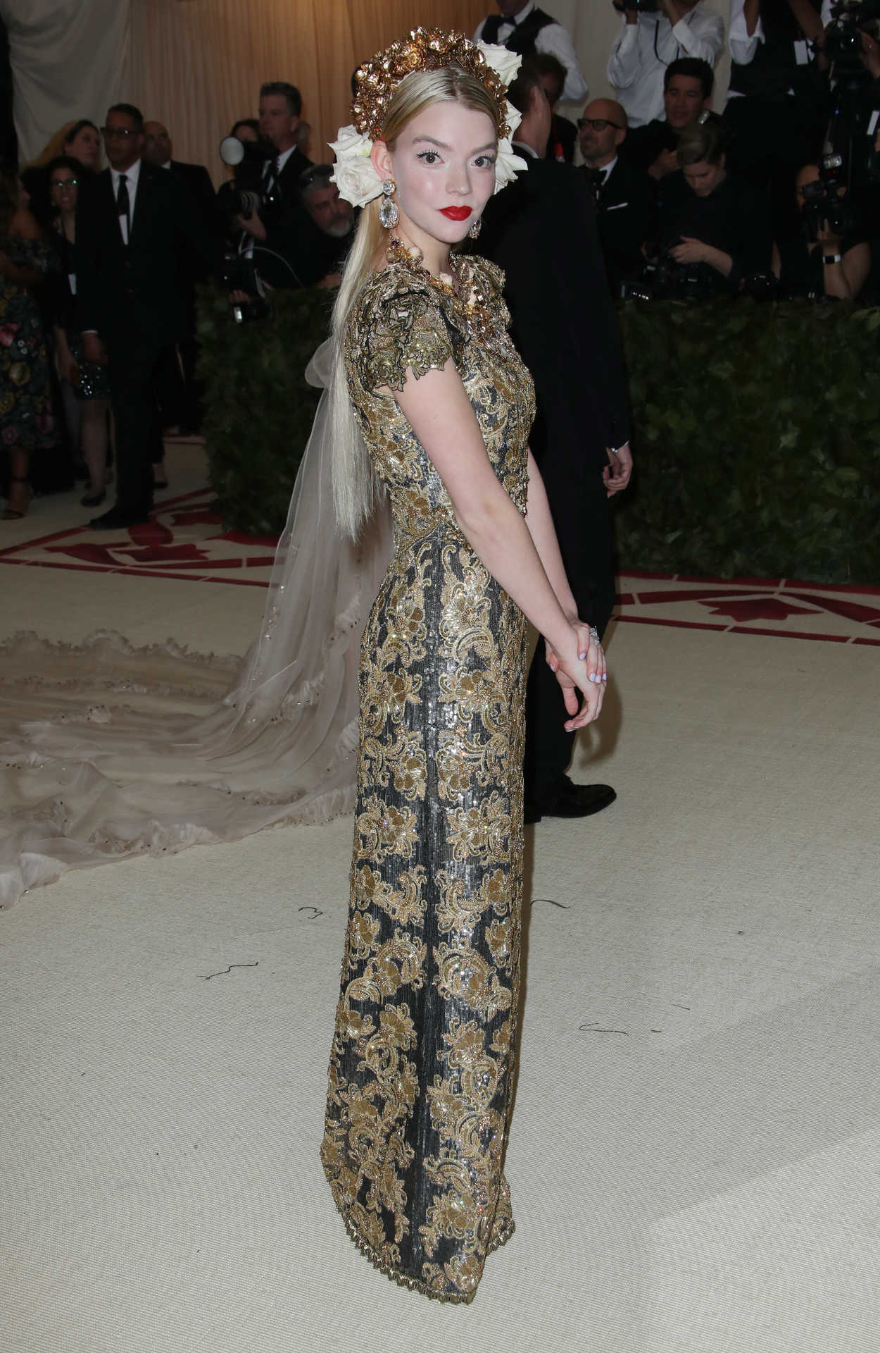 Anya Taylor-Joy At The Heavenly Bodies: Fashion And The