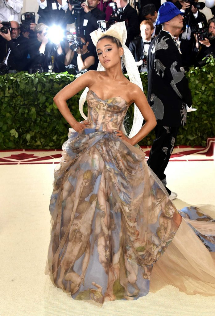Ariana Grande at the Heavenly Bodies: Fashion and The Catholic Imagination Costume Institute Gala in New York City 05/07/2018-1