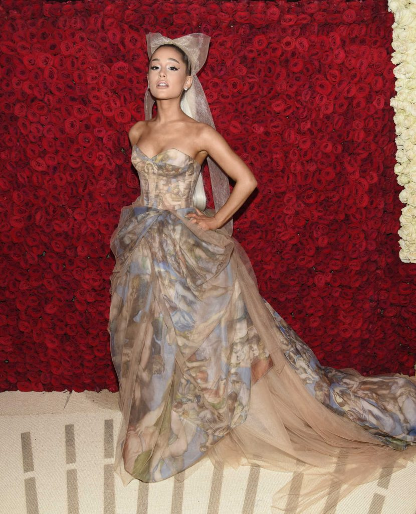 Ariana Grande at the Heavenly Bodies: Fashion and The Catholic Imagination Costume Institute Gala in New York City 05/07/2018-2