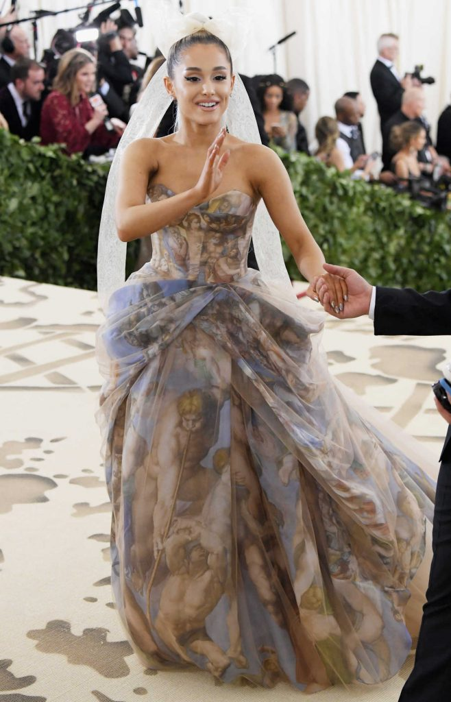 Ariana Grande at the Heavenly Bodies: Fashion and The Catholic Imagination Costume Institute Gala in New York City 05/07/2018-3