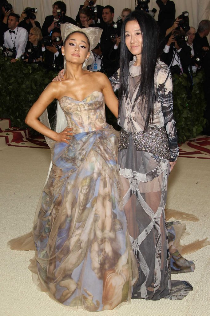 Ariana Grande at the Heavenly Bodies: Fashion and The Catholic Imagination Costume Institute Gala in New York City 05/07/2018-4