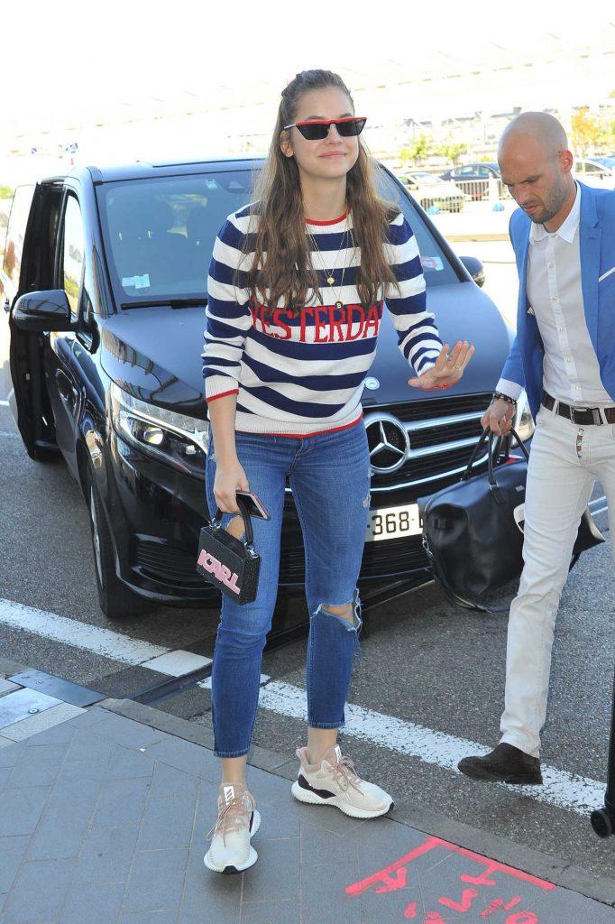 Barbara Palvin Arrives at Nice Cote d'Azur Airport in Nice 05/18/2018-2