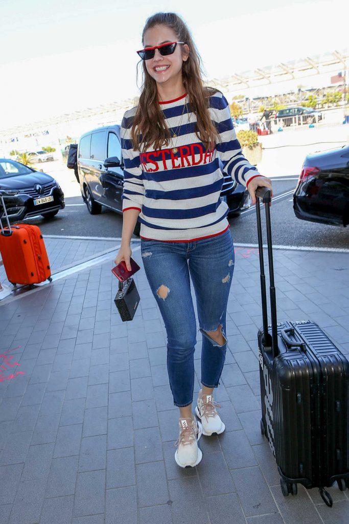 Barbara Palvin Arrives at Nice Cote d'Azur Airport in Nice 05/18/2018-4
